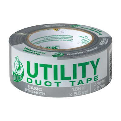 Duck Brand Duct Tape 1.88 in. W x 55 yd. L Gray