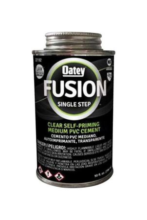 Oatey Fusion Single Step Clear Medium PVC Cement 10 oz.