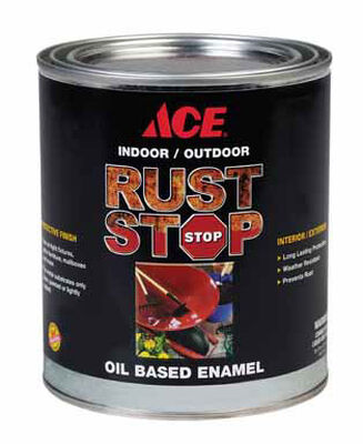 Ace Interior/Exterior Rust Stop Oil-based Enamel Paint Neutral Gloss 1 qt.