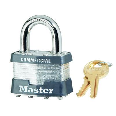 Master Lock 1-3/4 in. Keyed Alike 4-Pin Cylinder Laminated Steel Padlock