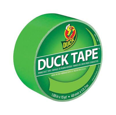Duck Brand Duct Tape 1.88 in. W x 15 yd. L Lime Green