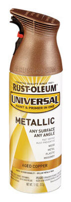 Rust-Oleum Universal Paint & Primer in One Aged Copper Metallic Metallic Spray 11 oz.