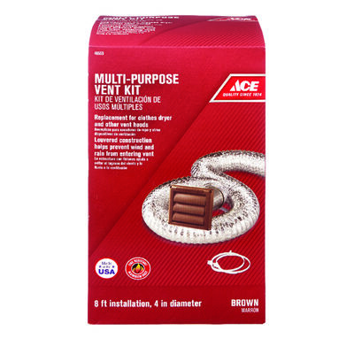 Ace Dryer Vent Kit 4 in. W Brown