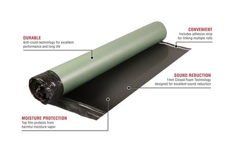LVT Underlayment Premium Underlayment for Resilient Vinyl Tile & Plank