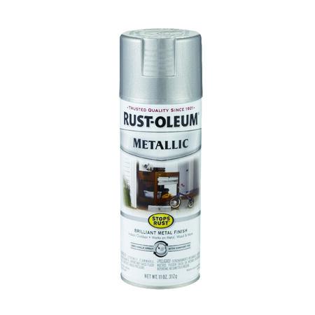 Rust-Oleum Stops Rust Silver Metallic Spray Paint 11 oz.