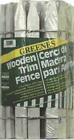 Greenes 16 in. H x 12 ft. L White Wood Garden Fence