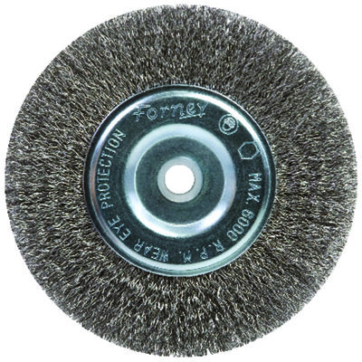 Forney 6 in. Dia. Coarse Crimped 5/8 in. Wire Wheel Brush 6000 rpm