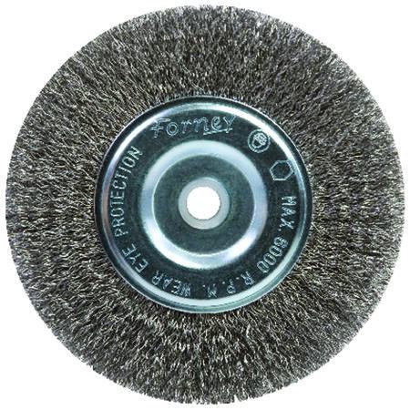 Forney 6 in. Dia. Coarse Crimped 5/8 in. Wire Wheel Brush 6000 rpm