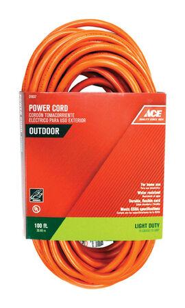 Ace Indoor and Outdoor Extension Cord 16/3 SJTW 100 ft. L Orange