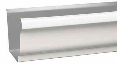 Amerimax 10 L x 5 in. W x 10 ft. L x 5 in. W x 5 in. H Aluminum K Box Gutter White