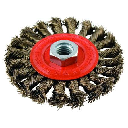 Forney 4 in. Dia. Twist Knot 5/8 in. - 11 in. Wire Wheel Brush 20000 rpm