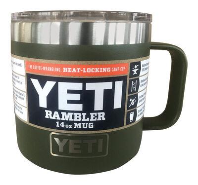 YETI Rambler Stainless Steel Insulated Mug Olive 1 pk 14 oz.