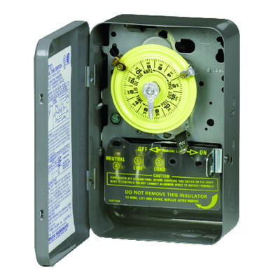 Intermatic Indoor 24 Hour Dial Timer 40 amps 120 volts Gray