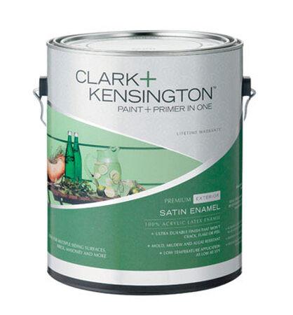 Clark+Kensington Exterior Exterior Acrylic Latex Enamel Paint Designer White 1 gal.