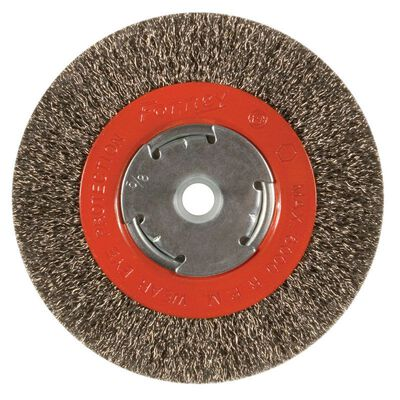 Forney 6 in. Dia. Coarse Crimped 1/2 in. Wire Wheel Brush 6000 rpm