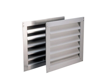 Air Vent Wall Louver 12 in. W x 12 in. L Silver
