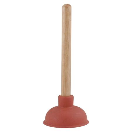 LDR Plunger with Wooden Handle 9 in. L x 4 in. Dia.