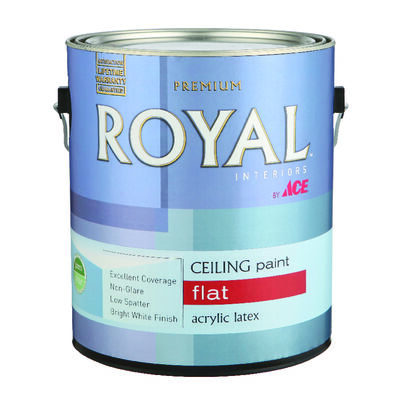 Ace Royal Flat Paint & Primer Low VOC Ceiling White Latex 1 gal.
