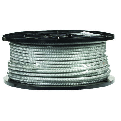 Campbell Chain Galvanized Steel Aircraft Cable 1/8 in. Dia. x 250 ft. L