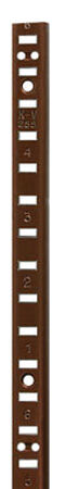 Knape & Vogt Aluminum Walnut 17 Ga. Shelf Pilaster 60 in. L