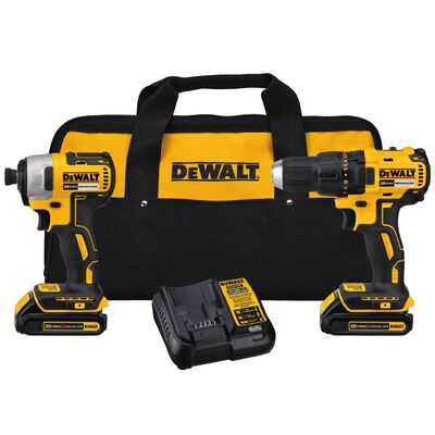 DeWalt 2 pc. Cordless *BRUSHLESS* Compact Drill and Impact Driver Kit Lithium-Ion 20 Max