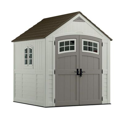 Suncast Cascade Storage Shed 8 ft. 6-1/2 in. H x 7 ft. W x 7 ft. D