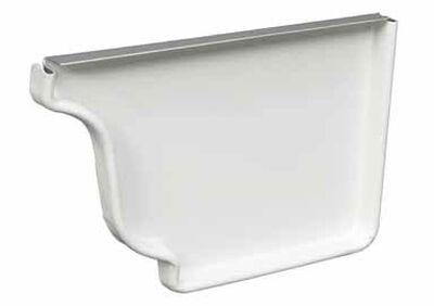 Amerimax 5 L x 3.5 in. W x 5 in. H K Slip End Cap White Aluminum