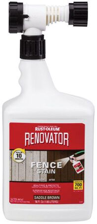 Rust-Oleum Renovator Semi-Transparent Water-Based Fence Stain Saddle Brown 56 oz.