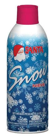 Santa Christmas Spray Snow White Aluminum 1 each