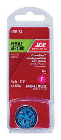 Ace Female Aerator 1.5 gpm 55/64 in.-27F Brushed Nickel