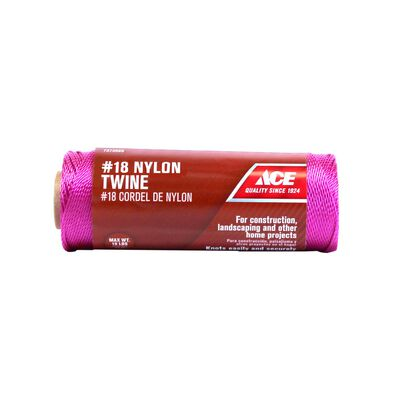 Ace 18 in. Dia. x 525 ft. L Twisted Nylon Twine Pink