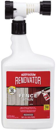Rust-Oleum Renovator Semi-Transparent Water-Based Fence Stain Redwood 56 oz.