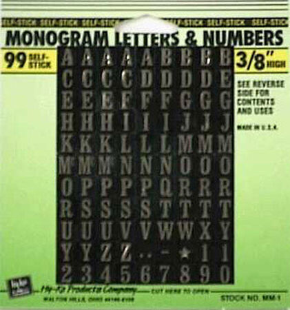 Hy-Ko Self-Adhesive Gold 3/8 in. Vinyl Letters and Numbers 0-9 and A-Z