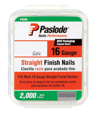 Paslode 2 in. L 16 Ga. Galvanized Straight Finish Nails 2 000 pk