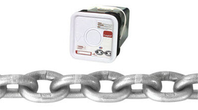 Campbell Chain Oval Link Grade 43 High Test Chain 40 ft. L x 3/8 in. Dia. Silver Carbon Steel