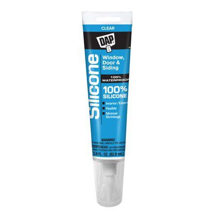 DAP 100% Silicone Rubber Sealant Clear 2.8 oz.