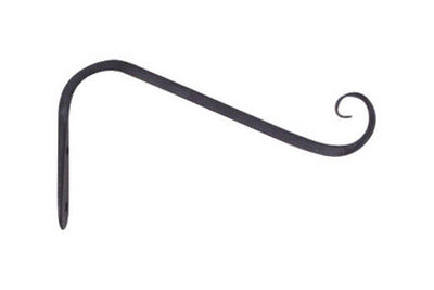 Panacea Black Wrought Iron Angled Wall Plant Hook 5 in. D x 5 in. H x 3/4 in. W