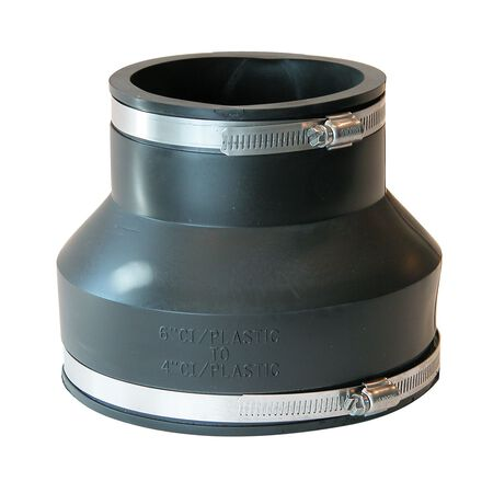 Fernco Schedule 40 6 in. Socket x 4 in. Dia. Socket Flexible PVC Coupling