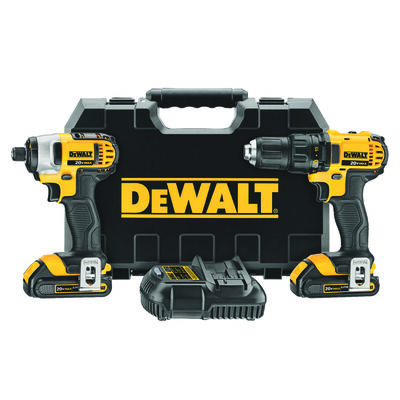 20V MAX* Lithium Ion Compact Drill/Driver / Impact Driver Combo Kit (1.5 Ah)