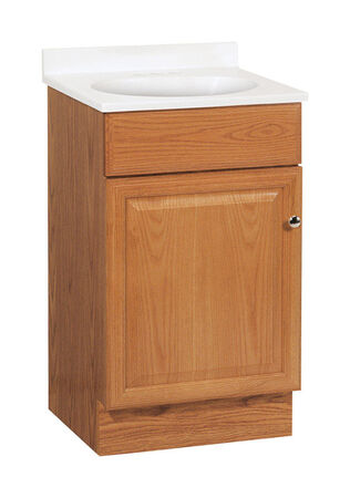Continental Cabinets Richmond Single Oak Vanity and Top Combo 18 in. W x 16 in. D x 32 in. H