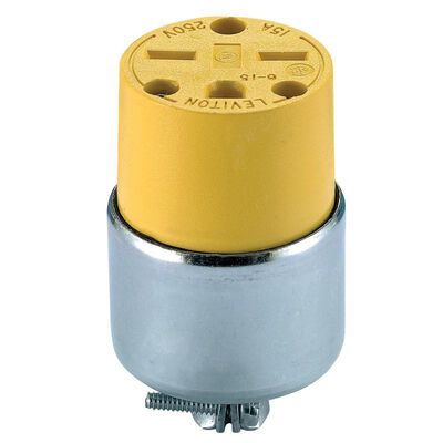 Leviton Commercial Armored Grounding Connector 6-15R 18-12 AWG