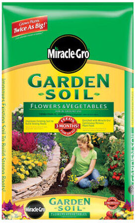 Miracle-Gro All Purpose Garden Soil Fertilizer Enriched 2 cu ft.
