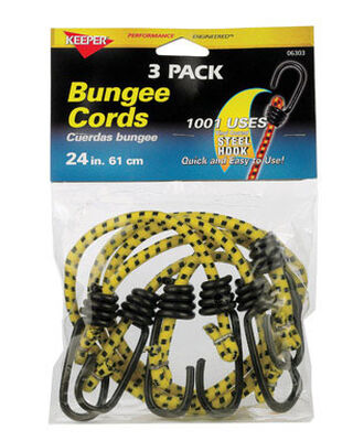 Keeper Corporation Keeper Bungee Cord 24 in. 0 lb. 3 pk