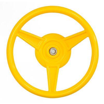Steering Wheel, 12 In Diameter, HDPE Resin, Yellow