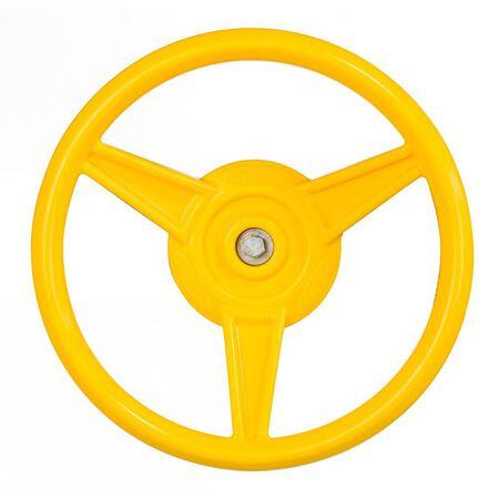 Steering Wheel, 12 In Diameter, HDPE Resin, Yellow