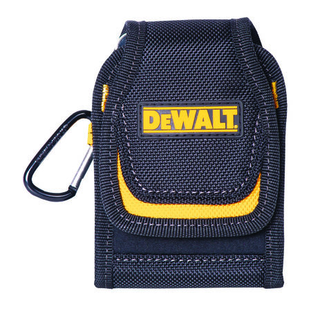 DeWalt 2 pocket Black/Yellow Polyester Cell Phone Holder 4.3 in. H x 2.5 in. L x 1 in. W