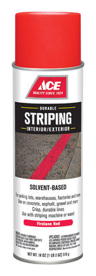 Ace Striper Solvent-Based Striping Paint Spray 18 oz. Red