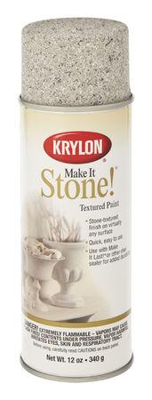 Krylon Make It Stone! Charcoal Sand Coarse Stone Textured Finish Spray 12 oz.