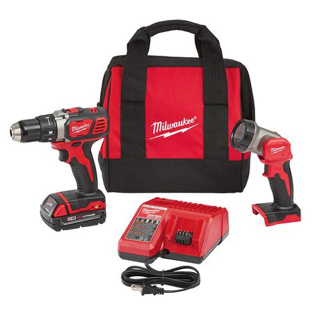 M18 18-Volt Lithium-Ion Cordless 1/2 in. Compact Drill/Worklight Kit