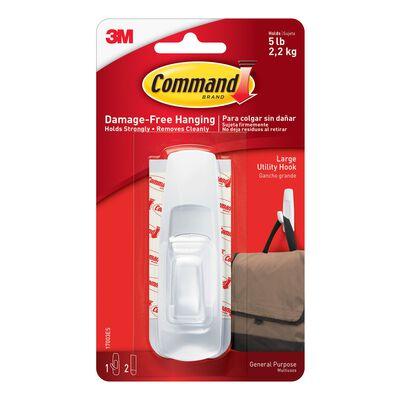 3M Command Large Utility Hook 3-7/8 in. L Plastic 5 lb. 1 pk